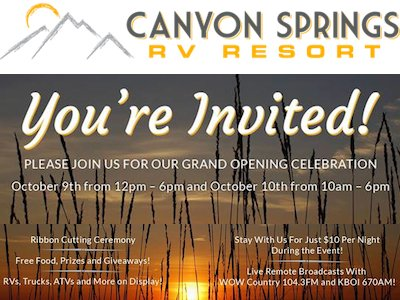 New Canyon Springs RV Resort, Idaho