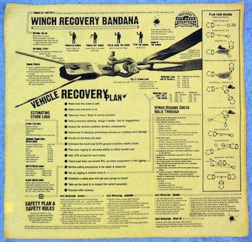 Winch Recovery Bandana - Badlands Off-Road