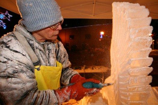 Lake Chelan Winter Icefest Sculptor