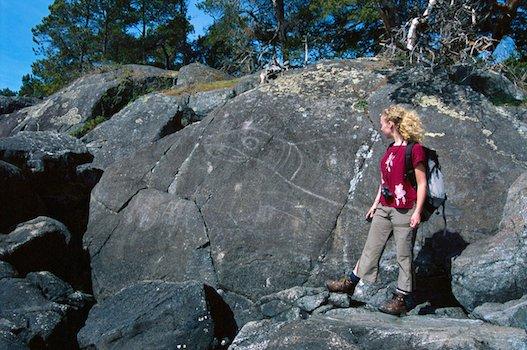Petroglyph in East Sooke Regional Park