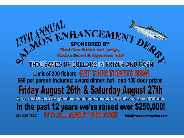 Westview Marina's Salmon Derby Aug 26 & 27