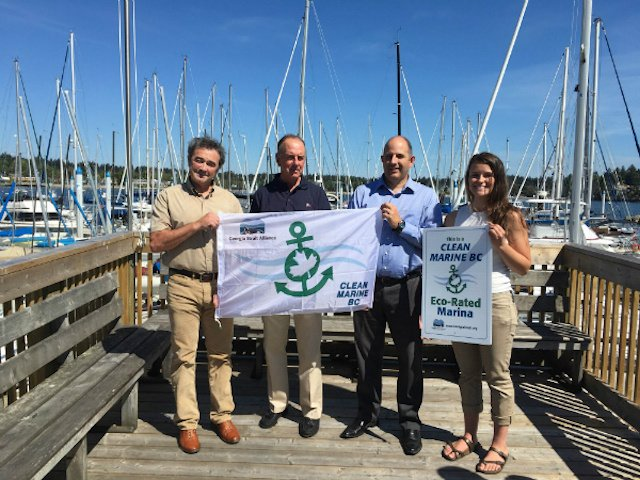 Royal Victoria Yacht Club certified by Clean Marine BC