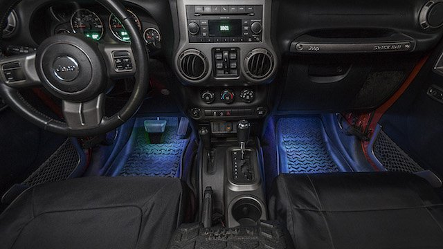 rugged ridge led interior lighting for jeep wrangler suncruiser