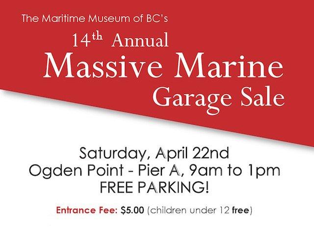 Massive Marine Garage Sale - Sat, Apr 22 in Victoria