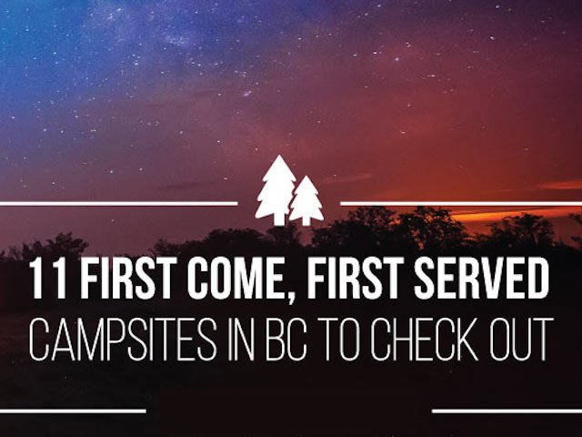 first-come first-serve campsites