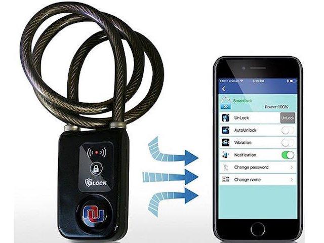 Nulock Keyless Bluetooth Lock with Alarm