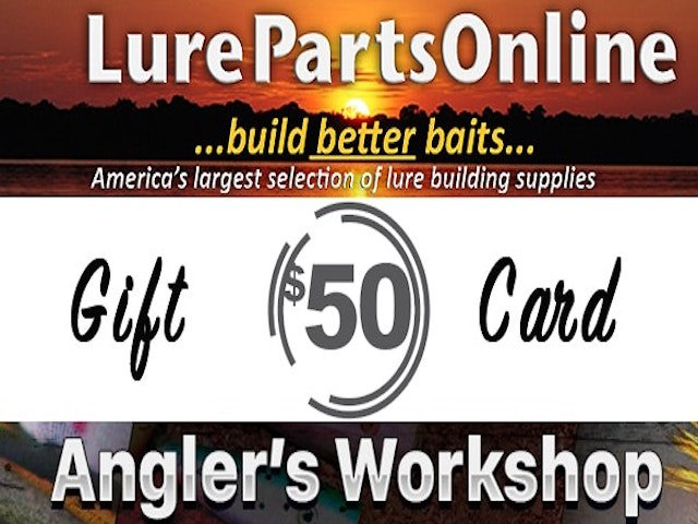 Lure Parts Online/Angler's Workshop Giveaway - ends Aug 1