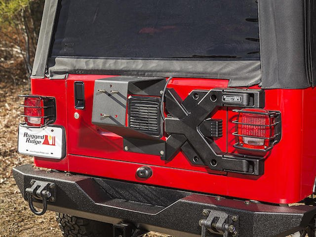 New Spartacus HD Tire Carrier from Rugged Ridge