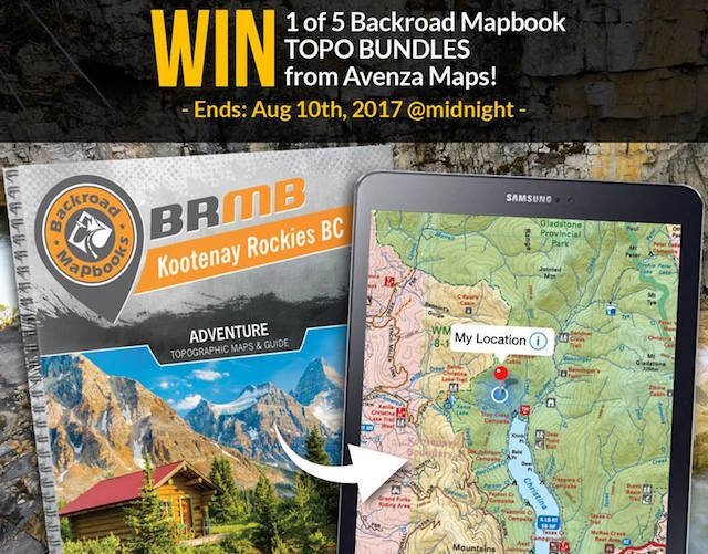 Win a Backroad Mapbook topo bundle from Avenza