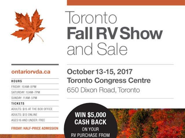 Toronto Fall RV Show & Sale 2017