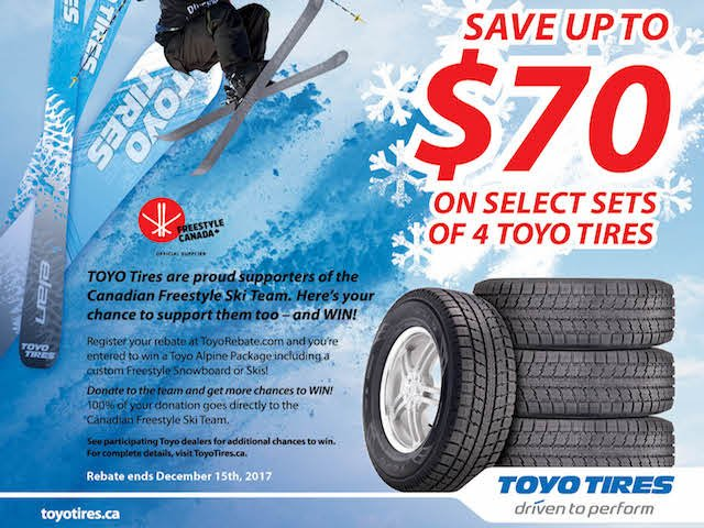 Toyo Tires Fall 2017 Rebate on now