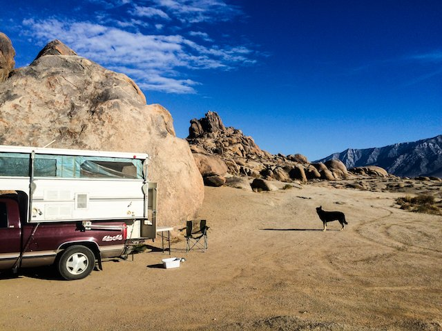 Axel checking out the moonscape at the Alabama Hills.jpg