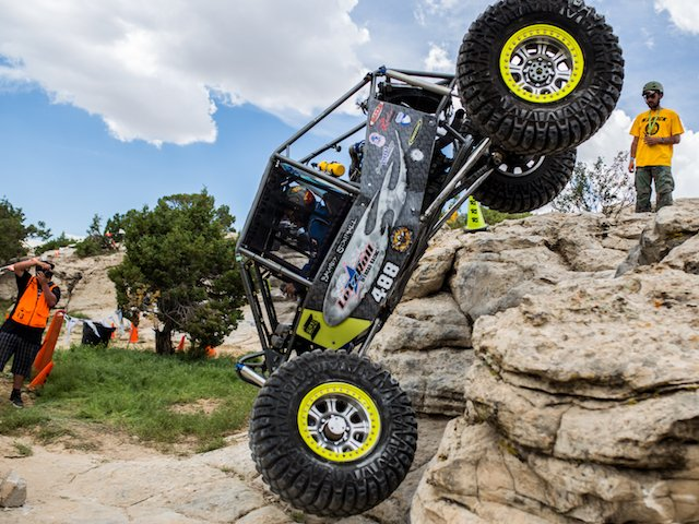 Brandy Southall does a huge drop in her custom moon buggy at WERock Rangley.jpg