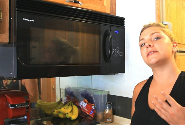 Microwave installed