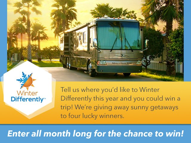 Where will you Winter Differently Sweepstakes
