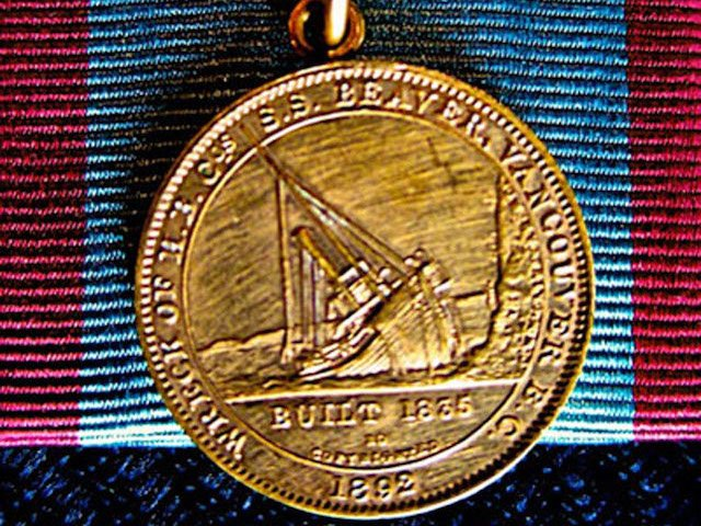 SS Beaver Medal Award, Maritime Museum of BC
