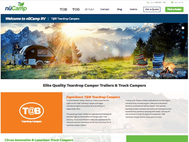 nüCamp RV launches redesigned website
