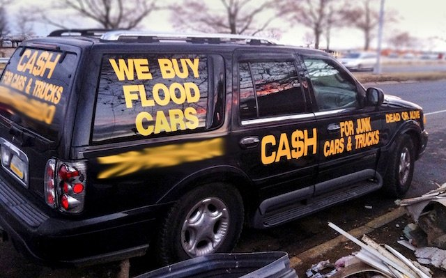 We buy flood cars