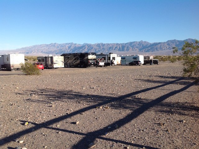 Rustic campground at Stovepipe Wells Village