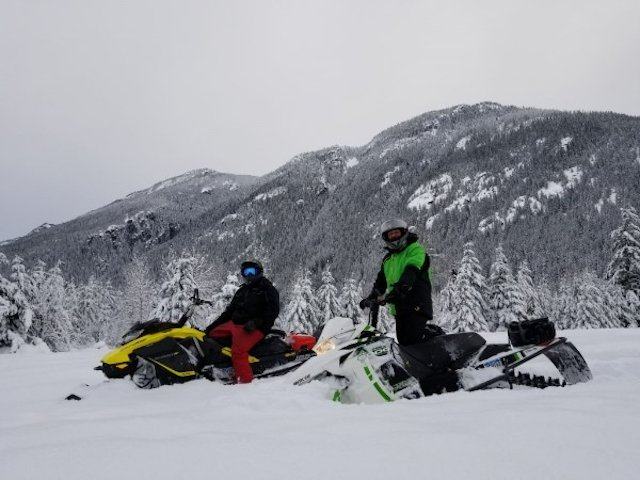 Snowmobiling at Sunshine Valley