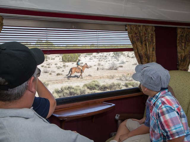 GCR First Family Viewing Cowboy Window