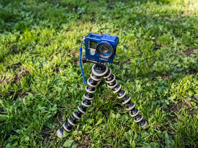 GoPro Hero4 Black and small adjustable tripod.jpg