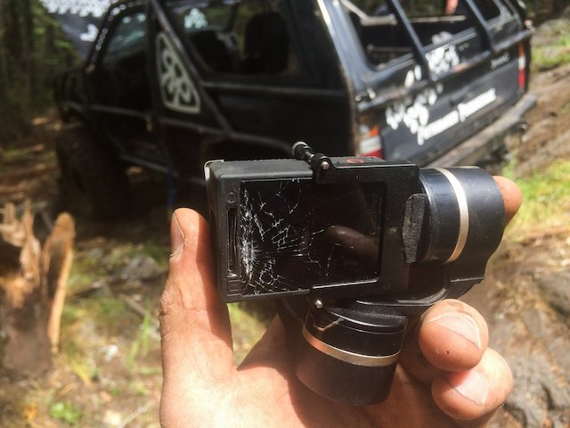 My gimbal mount location wasn't great for rolling the Pathmaker, Gimbal and GoPro down!.jpg