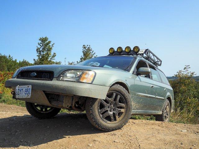 Rikki Lovejoy 2004 Subaru Legacy Outback suspension, General Grabbers ROCK.jpeg