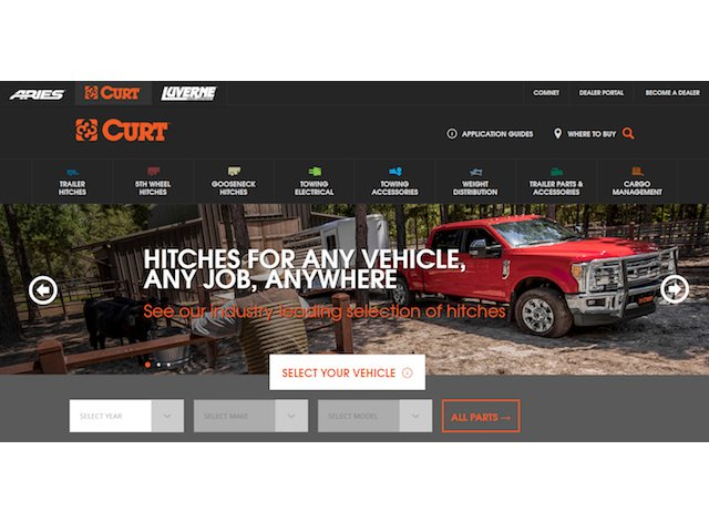 CURT Mfg website