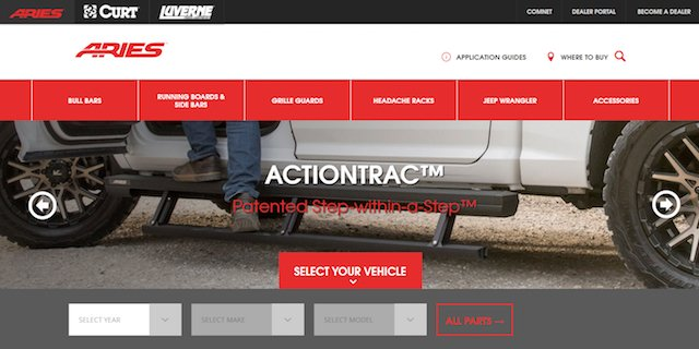 Aries Automotive website