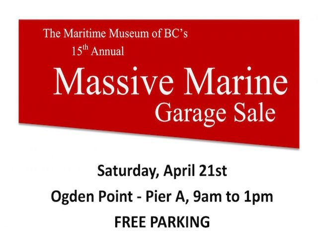 Massive Marine Garage Sale this Saturday in Victoria