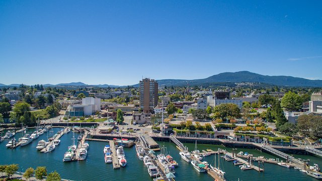 A bird's-eye view of Nanaimo.