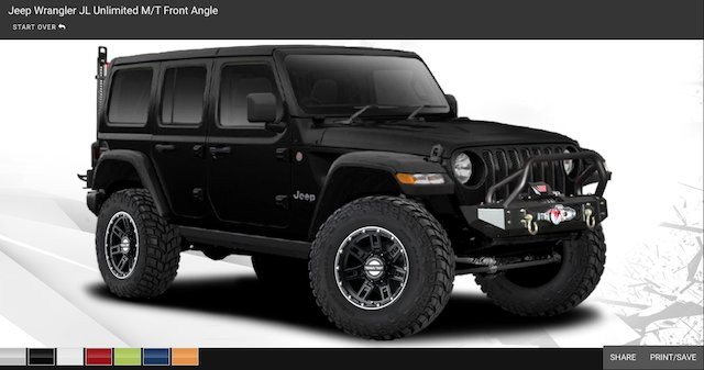 Jeep Wrangler JL Unlimited M/T Front Angle