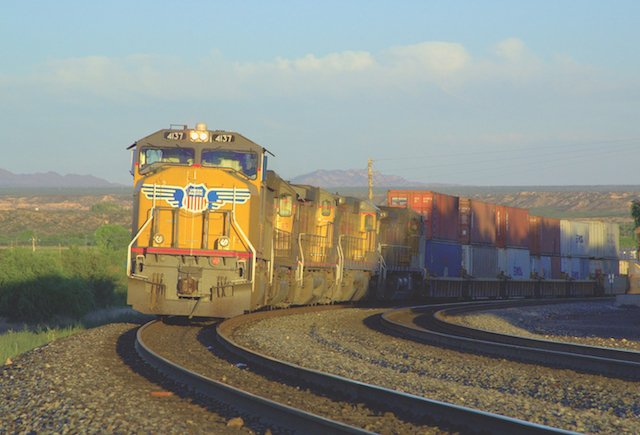 Union Pacific westbound freight train, Benson, Arizona_Ivan Safyan Abrams.jpg