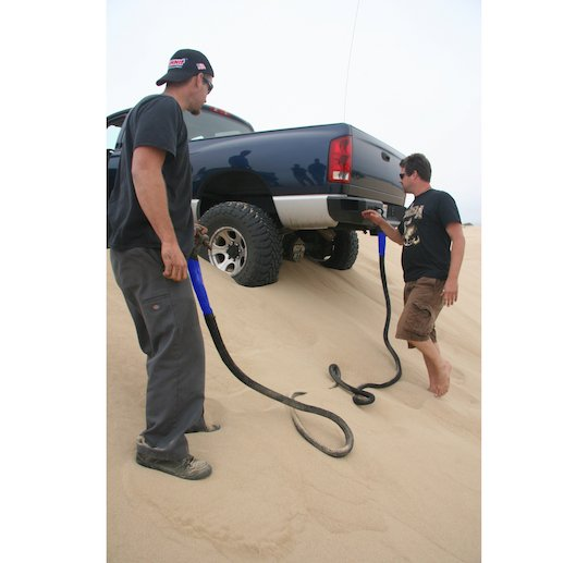 bubba rope in use on the dunes blue.jpg