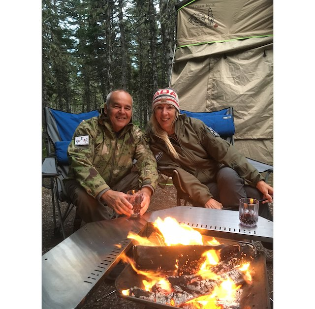 Photo 2018-09-11, 7 02 57 PM snow peak fire pit and table and enjoyed a perfect evening of red wine, Disarono .jpg