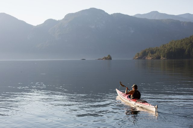 Kayaking in the charming Harmony Islands.