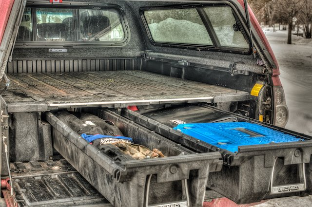 Overland Expo West >> DECKED out Tacoma Truck Bed Storage Drawer System - SunCruiser