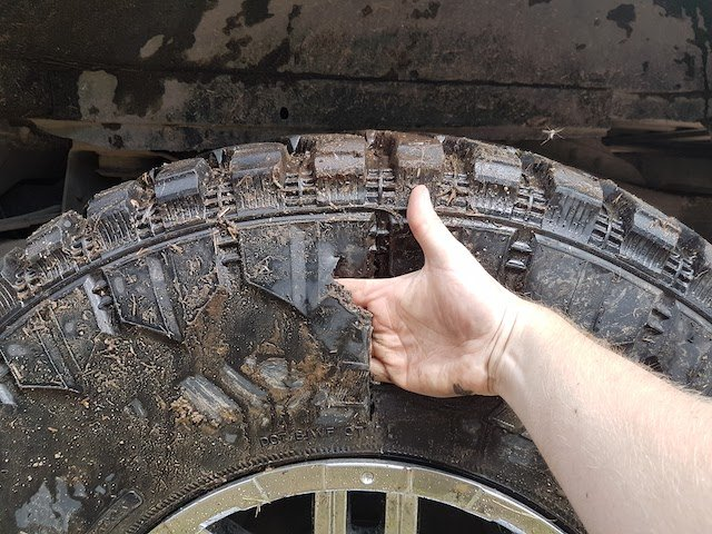 3 What will you do with no spare tire and a sidewall that can't be repaired? photo Derek Montgomery.jpg