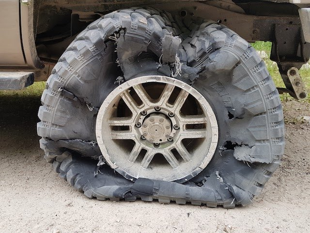 4 A tire and wheel looks like this if you have to drive it out - assuming you can photo Derek Montgomery.jpg