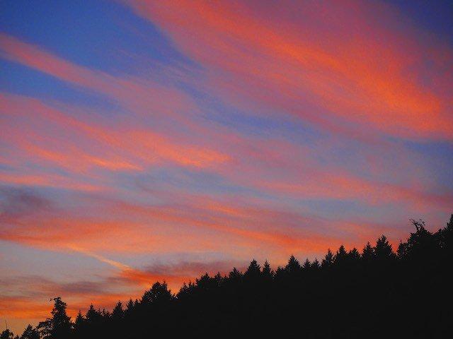 Galiano Island Red Sky