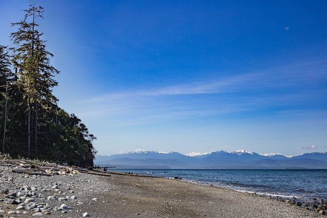 Beach in Fort Ebey State Park