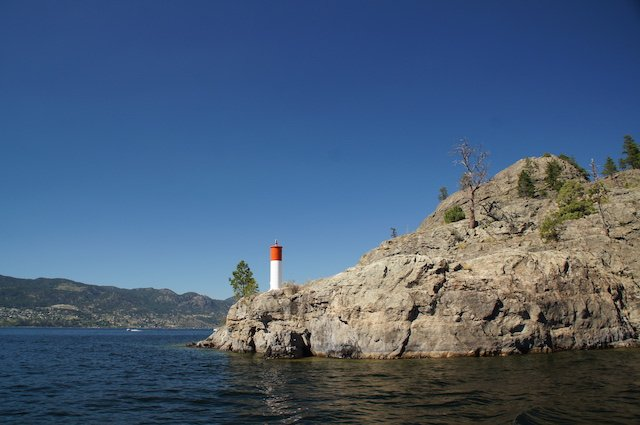 Beacons on Okanagan Lake photo Perry Mack.JPG