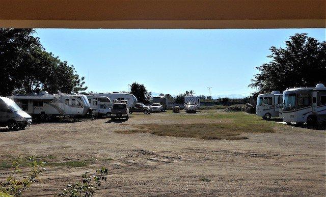 RVs Parked at Bugamvilla Hotel & RV Parking in El Fuerte.JPG