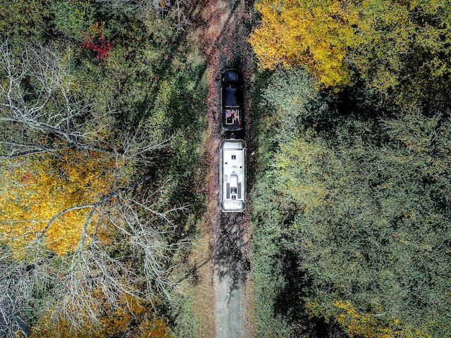 Airstream aerial view