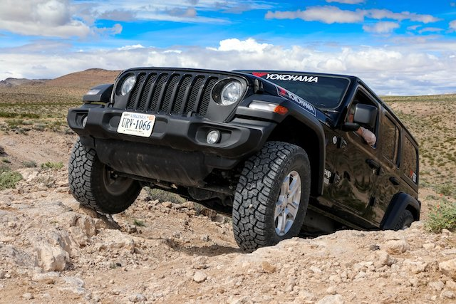 Harsh, hot, rocky, tire-disfiguring terrain X-AT