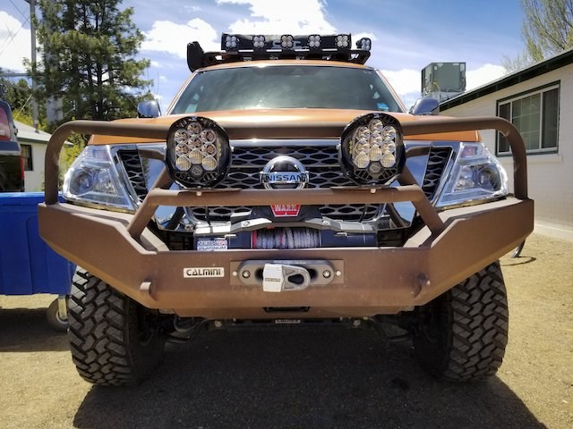 Fully built Nissan Armada at Expo West photo Mercedes Lillienthal.jpg