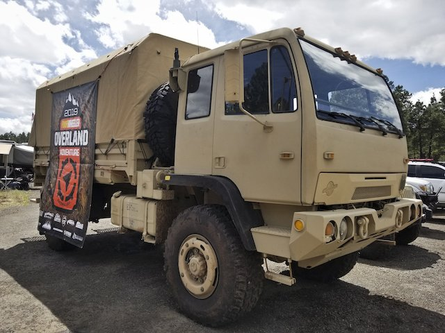 Massive military vehicle at Expo West photo Mercedes Lillienthal.jpg