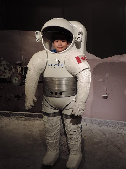 Photo Op in a space suit.