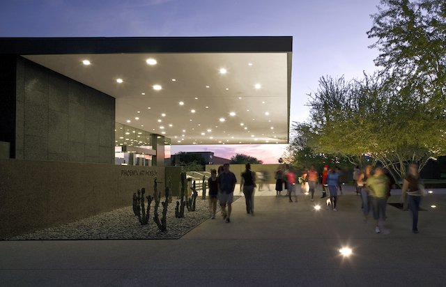 Phoenix Art Museum Exterior at night.jpg